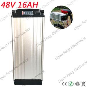 Nuovo fanale posteriore di alta qualità 48V 15AH Batteria agli ioni di litio Ebike Custodia in alluminio Batteria bici elettrica 48V 15AH 1000W con caricabatterie