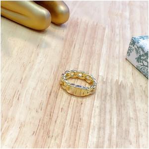 Cd алфавит Золотое кольцо стерлингового серебра модные кольца для мужчин и женщин ювелирные изделия Роскошные дизайнерские украшения для женщин Бесплатная доставка