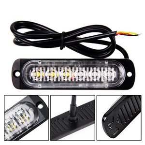 1pc 12 / 24V 6-LED Car Truck Avvertenza di emergenza LED Strobe Flash Light Hazard Lampeggiante Lampada Guida DayLight Bar Polizia Vigile del fuoco