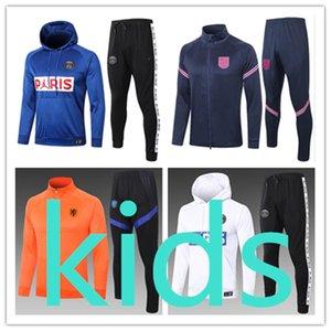 kids new 20 21 football kits clothing jacket hoodies robe pour enfants  designer clothes boys veste de luxe chaqueta soccer training tracksuit Survetement chandal