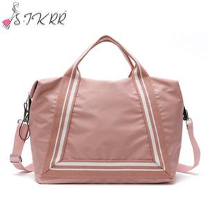 S.IKRR Fashion Nylon Travel Bag Women Portable Duffle Bag Carry on Luggage Organizer Handbag Big Weekend Crossbody Bags