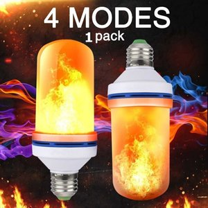 E27 LED Flammen-Feuer-Effekt-Glühlampe Flickering Emulation Led-Lampen-Birnen 3W Gelb Blau