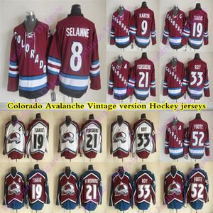 dos homens Colorado Avalanche CCM Vintage jerseys 19 Sakic 33 ROY 21 FORSBERG 8 Selanne 52 FOOTE 9 KARIYA Hockey Jersey