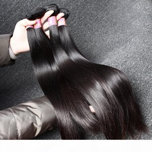 Unprocessed Virgin Peruvian Hair Weaves Straight Mink Hair Remy Human Hair Double Weft Extensions Bulk Wholesale Bellahair 8A Natural Color