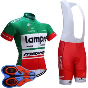 Nouvelle LAMPRE équipe Hommes Respirant Maillot cyclisme Set Top qualité VTT manches vélo Vêtements court Vélo de route Porter vélo convient Y092607