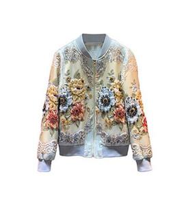 Línea de Oro de lujo de la vendimia Jacquard rebordear Svoryxiu diseñador por encargo Otoño Invierno Outwear chaquetas de las mujeres Tops chaquetas de la capa