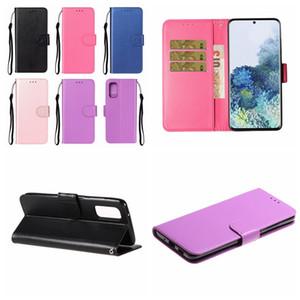 Для Iphone 12 Pro 11 XR XS MAX 8 7 6 ПУ Простые кошелек Кожаные чехлы Galaxy S10 S10e Примечание 20 A21S А10 А20 Магнитная откидная крышка Ремешок