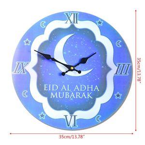 Electronic Frameless 3D Wall Clock Decal Sticker Muslim Ramadan Eid Mubarak Home Decoration
