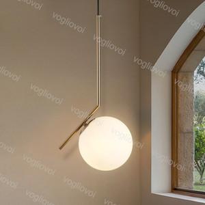 Modern pingente lâmpadas de vidro bola estilo E27 200mm 300mm para sala de estar quarto minimalista restaurante pingente luz nórdica dhl