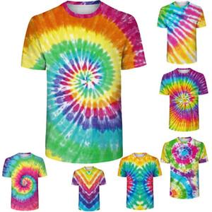 New Summer Tye Dye 3D Prints Fitness Short Sleeve Women T Shirt Tees Running GYM Sport Mens Sports Shirts Exercise T-shirts