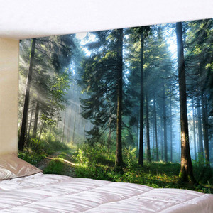 보헤미안 벽 태피스트리 만다라 벽 아트 장식을 매달려 아름다운 자연 숲 인쇄 대형 태피스트리 저렴한 히피 벽