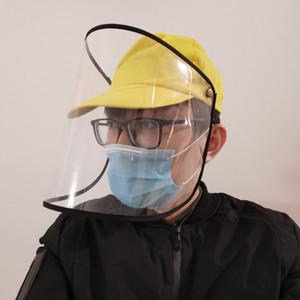 Tapa protectora anti-niebla a prueba de polvo Aislamiento Protección de la mascarilla facial cubierta del casquillo de la gorra de béisbol del sombrero de pico EEA1305-2