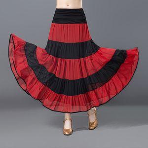 Adult Ballroom Dancing Dress Stripe Fringe Standard Waltz Tango Performance Competition Dance Wear For Women Practice Skirt