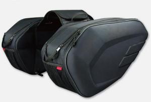 Motosiklet bagaj eyer torbaları, Motosiklet karbon fiber yan çantaları, 18-29L yağmur kapak kask çantası