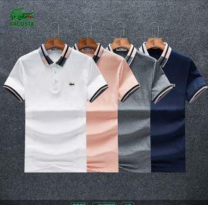 19 Männer Verschiedene Stile Polos Casual Einfarbig Kleidung Sommer Mode Solide Baumwollmischung Kurzarm Atmungsaktiv Größe M-3XL # 125