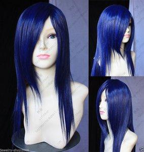 vogue longo escuro azul misturado saúde cosplay Peruca de cabelo Perucas para as mulheres n ????????????? Orçamento livre