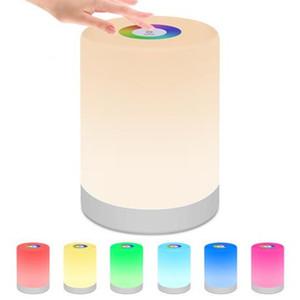 Şarj edilebilir Akıllı LED Dokunmatik Kontrol Gece Işığı İndüksiyon Dimmer Akıllı Başucu Taşınabilir Lamba Dim RGB Renk Değişimi