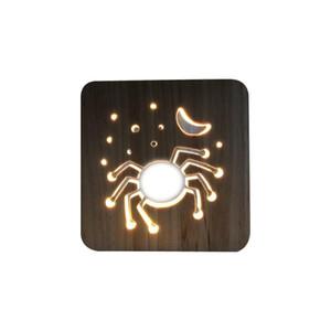 BRELONG Halloween-Spinnen-kreative helle Neue 3D-LED-Holz-Nachtlicht Ferien Warm White 1 PC Beleuchtung