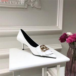 Die Frauen klassische hohe Absätze, Metallic Element spitze Zehenstreife Pailletten Ledersohle mit Business Party hohen Absätzen, volles Spektrum von Schuhkarton