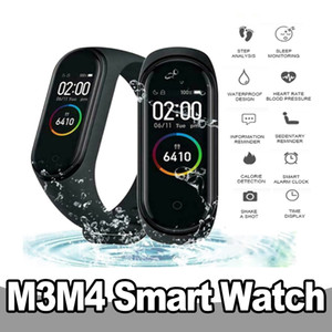 M3 M4 الذكية فرقة الذكية الرياضة للياقة البدنية سوار ماء معدل ضربات القلب ومراقبة ضغط الدم اختبار ساعة ذكية للحصول على الروبوت IOS