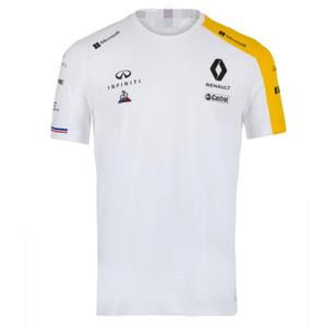 Пользовательские Formula F1 Renault Гонки Быстросохнущий с коротким рукавом футболки Sumacher Повседневный Спорт вокруг шеи футболку