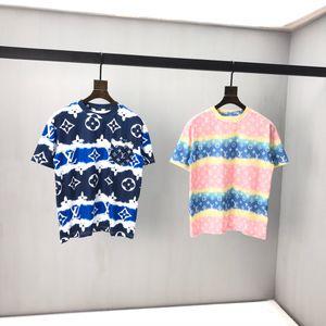 Erken bahar 2020 yeni renk blok mektup logosu Kısa Kollu Tee çift zincirli ince pamuklu kumaş siyah ve beyaz ok8