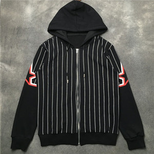 Erkek Ceket Hoodie Ceket Moda Erkek Yıldız Baskı Ceket Yüksek Kalite Erkekler WINDBREAKER Kış Coat Açık Streetwear Siyah Boyut M-2XL
