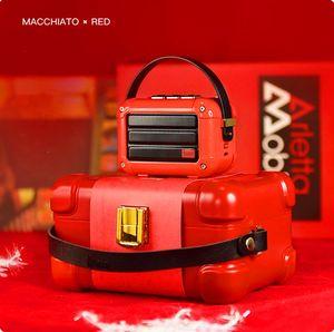 Новый отлично играют макиато Bluetooth Беспроводной динамик Рождественский красный металл Радио открытый портативный ручной музыкальный плеер сабвуфер
