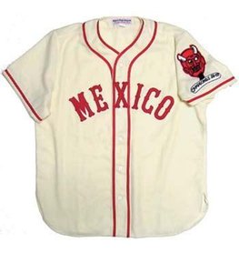 Mexico City Red Devils 1957 Home Jersey 100% Stitched Embroidery Baseball Jerseys Custom Any Name Any Number Free Shipping
