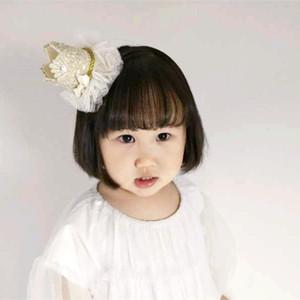 10 pcs Novidade Do Bebê Hairbands Lace Cristal Meninas Cabelo Varas Coroa Pprincess Bonito Acessório de Cabelo Meninas Grampos de Cabelo Hot venda