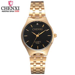 Chenxi Marque Hot or Femmes Quartz Montres Femme Steel Ladies Watch Fashion Casual Cristal Horloge cadeau montre-bracelet