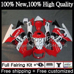 Cuerpo blanco rojo para HONDA CBR600RR F3 CBR600FS CBR 600 F3 97 98 48PG17 Rojo CBR 600F3 FS CBR600F3 CBR600 F3 1997 1998 Fairing Body kit