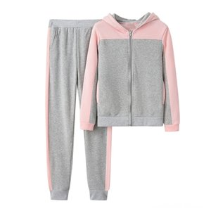 women's sports suits tracksuit two piece set sportwear Women Solid Color Hooded Sweatshirt and Exercise & Fitness Wear Athletic & Outdoor Ap