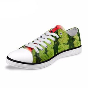 NOISYDESIGNS 2018 Yaz Yeni vulcanize ayakkabı erkekler Meyve Karpuz Portakal Pitaya Düz Ayakkabı Erkek Classic Canvas Shoes Boy yazdırmak