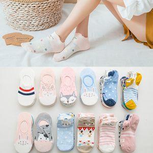 Summer Korea women Cartoon Cat Fox mouse Socks Cute Animal Funny Ankle Socks Cotton invisible socks