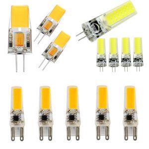 LED G4 G9 Лампа AC / DC 12V Затемнение 220V 2W 3W 4W 5W COB SMD LED освещение Свет заменить Галогенные прожектор Люстра