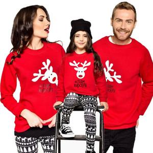 Семейная Мода Соответствующие Женщины Малыш Рождество Повседневный Свитер Олень Дамы Новый Джемпер Топы