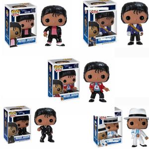 FUNKO POP MICHAEL JACKSON 5 종류 공간 댄스 BEAT IT 빌리 진 BAD 비닐 조치 어린이 생일 선물 컬렉션 모델 장난감 피규어