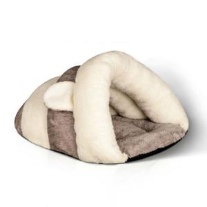 새로운 겨울 따뜻한 삼각형 고양이 배설 용 울트라 소프트 애완 동물 개집 유니버설 작은 개 매트 높은 품질 방풍 패드 두께는 가방 유르트 둥지 잠자는
