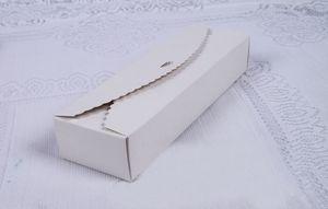 100pcs 23 * 7 * 4cm White Packaging Kraft Paper Macaron Box For Candy\Cake \ Jewells \ gift \ chocolate Packing box