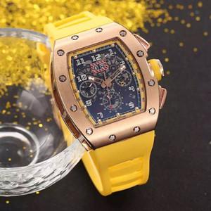 HOT vente homme montre sport montre-bracelet top vente homme montres mécanique montre automatique boîtier en acier bracelet en caoutchouc 035