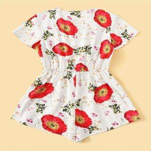 Frauen Urlaub Mini Overall-Spielanzug-Sommer-Strand-beiläufige Kurzschlüsse Kleid