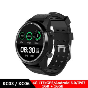 KC03 / KC06 4G Smartwatch Telefon 1.3inch Android 6.0 MTK 6737 1,2 GHz 1 GB RAM 16 GB ROM 620mAh Built-In Smart Watch