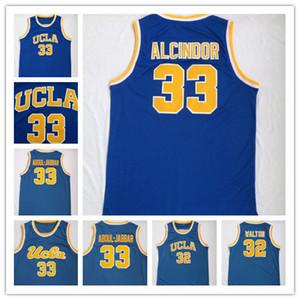 Yeni Geliş UCLA Bruins 33 Lew Alcindor Jersey 33 Abdul Jabbar 32 WALTON Kareem% 100 Dikişli Basketbol Spor Yüksek Kalite Hızlı Kargo