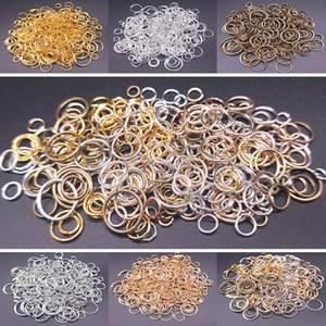 ewelry Findings & Components 100Pcs 4 5 6 8 10mm Open Jump Rings Split Rings Connectors For Diy Jewelry Crafts Finding Making Accessories...