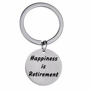 12 шт./лот счастье на пенсию из нержавеющей стали брелок учителя дедушка бабушка брелок пенсионные подарки брелок кольцо Шарм