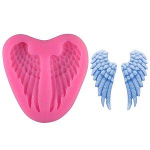 Крылья ангела силиконовые формы фондант торт украшения инструменты шоколад Gumpaste формы, Sugarcraft, кухонные принадлежности