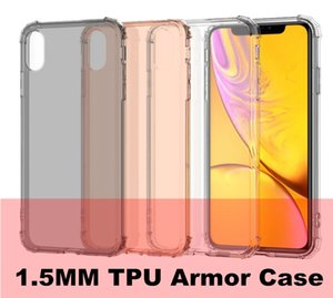 1.5 MM TPU Kılıf Samsung S10 E Artı A6 Artı J4 A7 2018 Iphone XS MAX XR 6 7 huawei Y6 Y9 Y7 Başbakan 2018 LG K8 2018 Zırh Hibrid Temizle Kapak