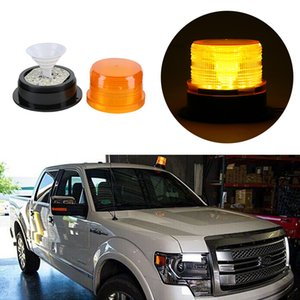 Alarme d'avertissement d'urgence d'urgence de feu de balise de voiture de LED de lumière clignotant orange de voiture de style DC12V / 24V