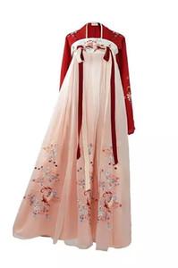 Kukucos Hanfu Femme Koi brodé ancien système de style Tang Jupe taille haute traditionnelle